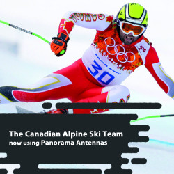 The Canadian Alpine Ski Team now using Panorama Antennas VHF 1/4 Wave Portable Antenna