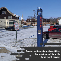 Enhancing public safety and deterring crime with blue light light towers
